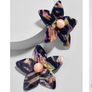 BaubleBar Amariella Flower Resin Stud Earrings